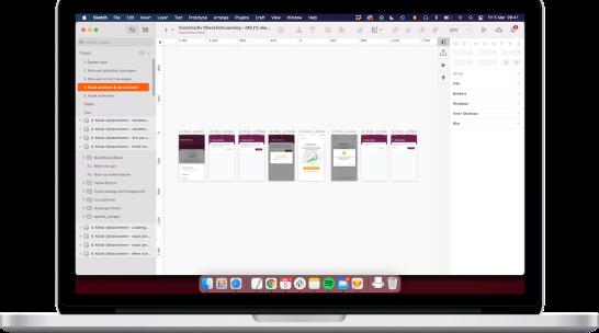 Interface van Design tool Sketch