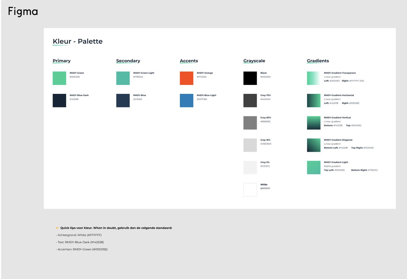 RMDY Website_UX UI in AR VR_kleurenpalet