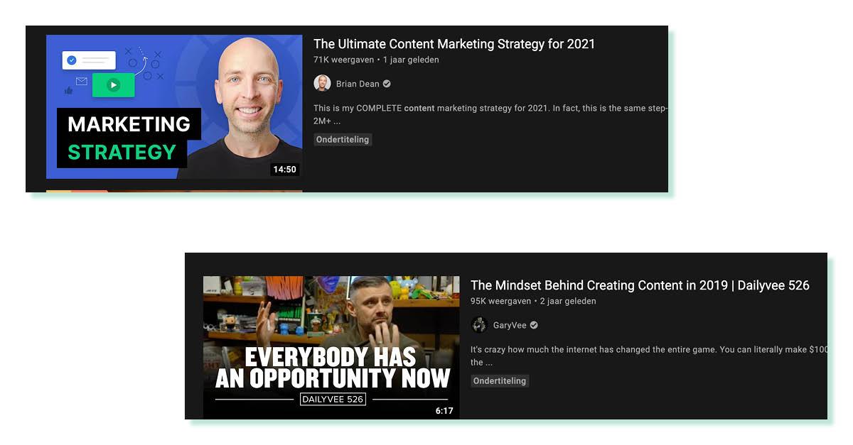 contentstrategieën op Youtube