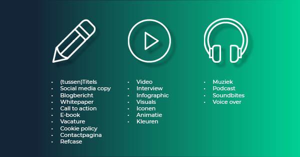 RMDY Blog - waarom content: soorten content