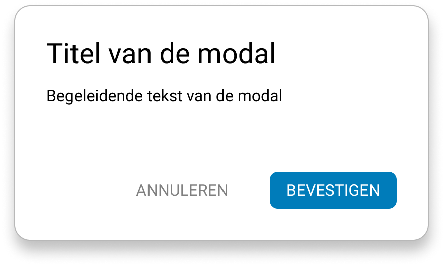 Example of standard modal