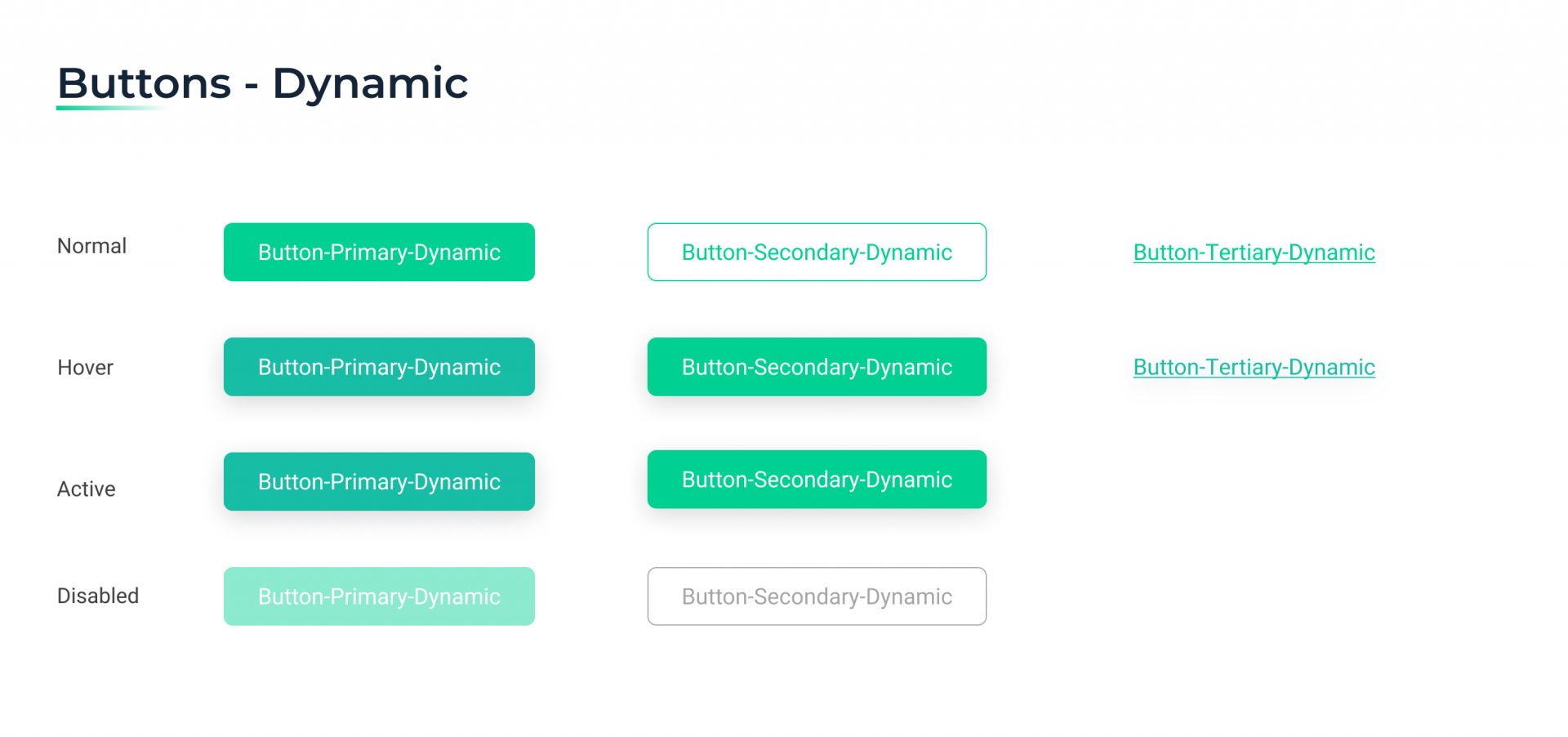 Een voorbeeld uit het RMDY design system; Buttons